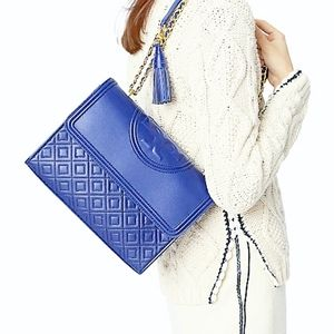SALE!!💎Tory Burch Fleming💎quilted leather bag